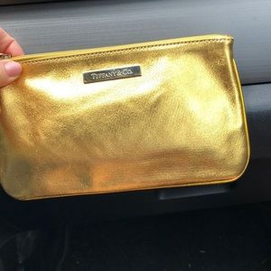 Tiffany & Co. Leather Clutch/ Makeup bag